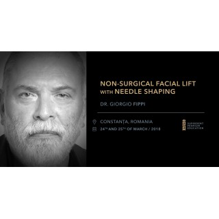 Non-surgical facial lift with needle shaping 24-25 martie 2018